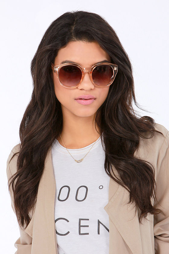 Marlo Peach Sunglasses - $14