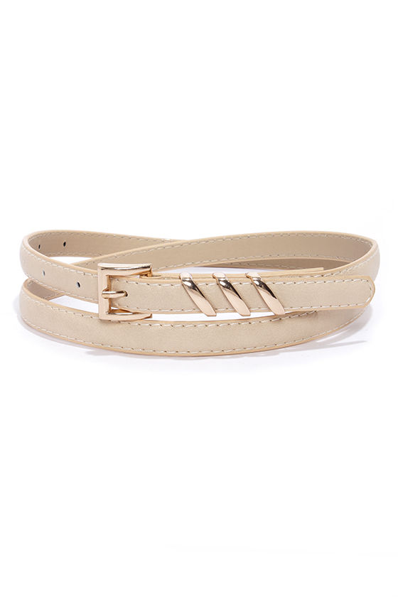 Place Your Belts Light Beige Belt