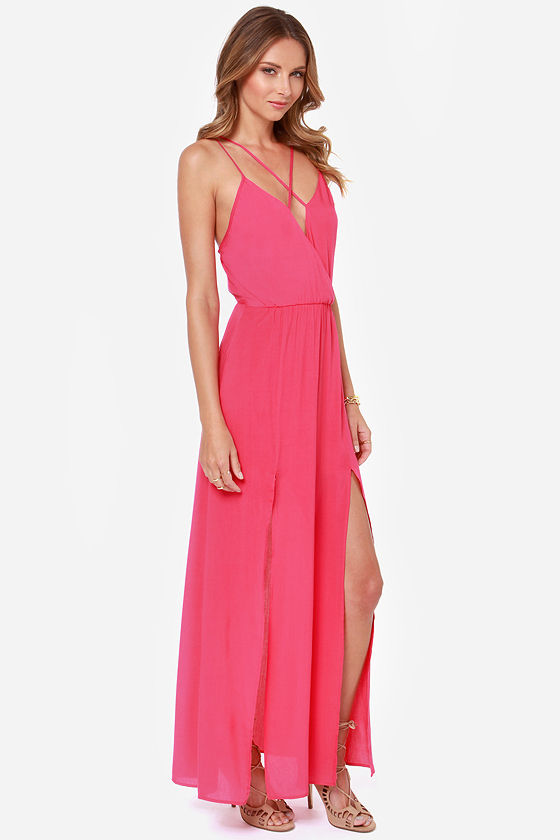 Reverse Take a Hint Fuchsia Pink Maxi Dress - $71