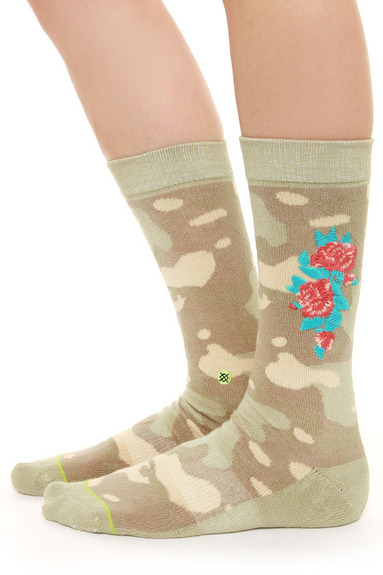 Stance Tough as Nails Embroidered Camo Print Socks - $12