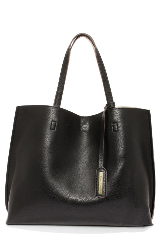 Switch it Up Reversible Black Tote - $59