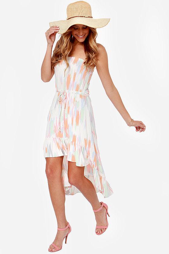 O'Neill Neema Strapless Print Dress - $49.50